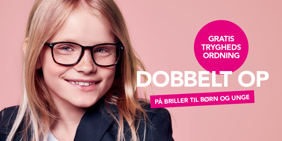 Dobbelt op på alle briller til børn og unge
