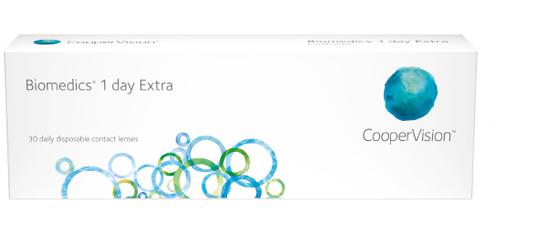Biomedics 1 day Extra kontaktlinser fra Coopervision
