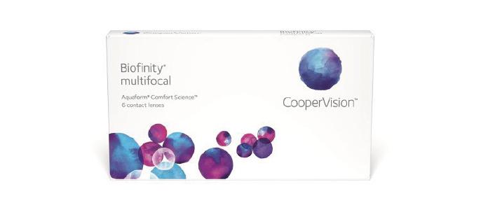 Biofinity multifocal kontaktlinser fra Coopervision