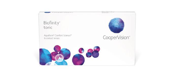 Biofinity torix kontaktlinser fra Coopervision