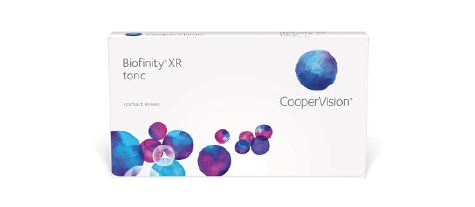 Biofinity XR Toric kontaktlinser fra Coopervision