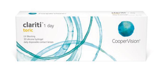 Clariti 1 day toric kontaktlinser fra Coopervision