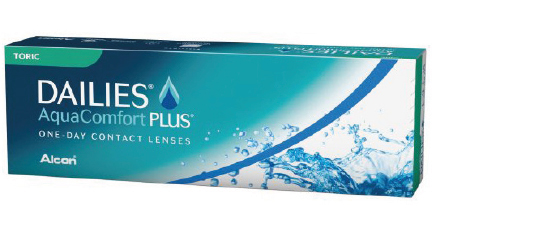 Dailies Aqua Comfort Plus Toric kontaktlinser fra Alcon